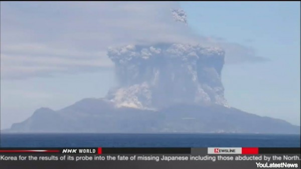 Japanse vulkaan komt tot leven, 110 mensen met spoed van eiland gehaald. (video)