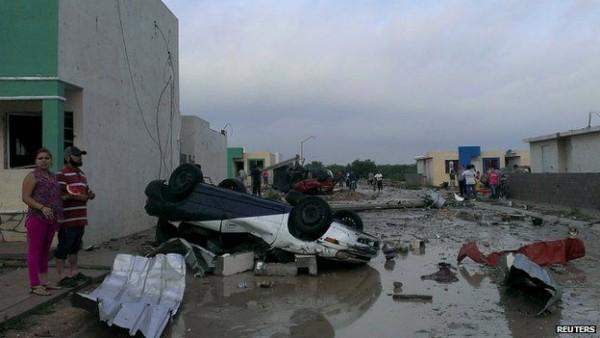 Dodelijke tornado Mexico eist minimaal 11 slachtoffers