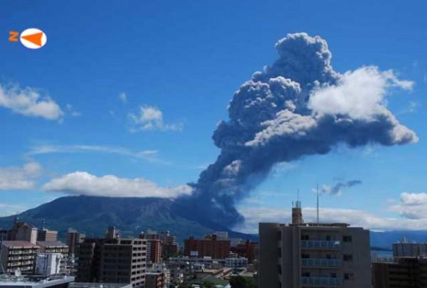 Verhoogd alarmniveau kerncentale japan wegens vulkaanuitbarsting