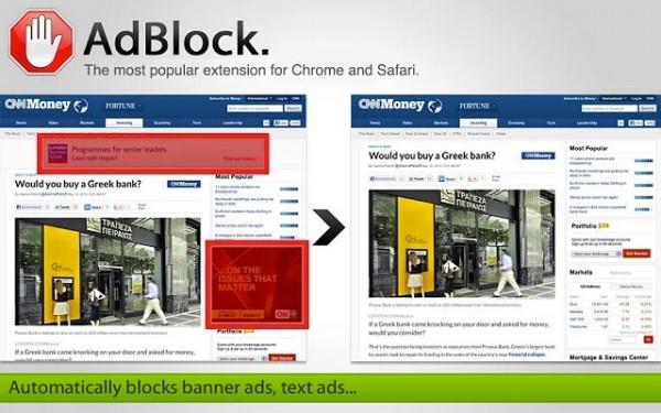 Adblocker doodsteek voor de nu nog gratis websites.