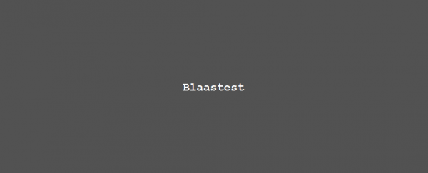 Column Nadine Swagerman – Blaastest