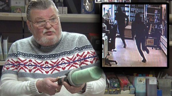 67-jarige winkeleigenaar Beverwijk jaagt overvallers zijn winkel uit (Video)