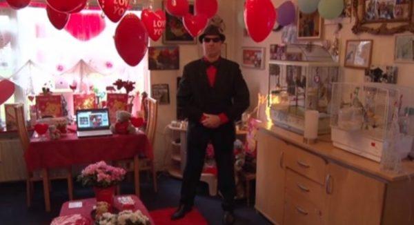 Voor Zaandammer Ed Schut is valentijnsdag de mooiste dag van het jaar.