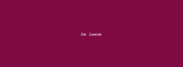 Column Nadine Swagerman – De Leeuw