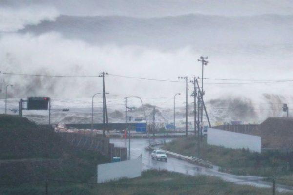 Doden door tyfoon Japan