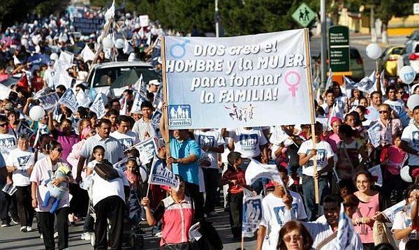 Mexicanen demonstreren tegen homohuwelijk
